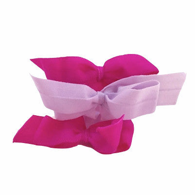 Pink/ Lavender Shirley Set - Bandtz. Handmade hair bows for girls.