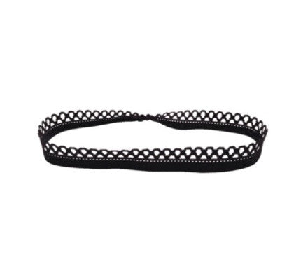 Picot Headband - Bandtz. Elastic headband for women.