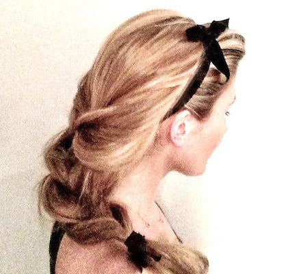 Matte Bow Headband - Bandtz on Blonde