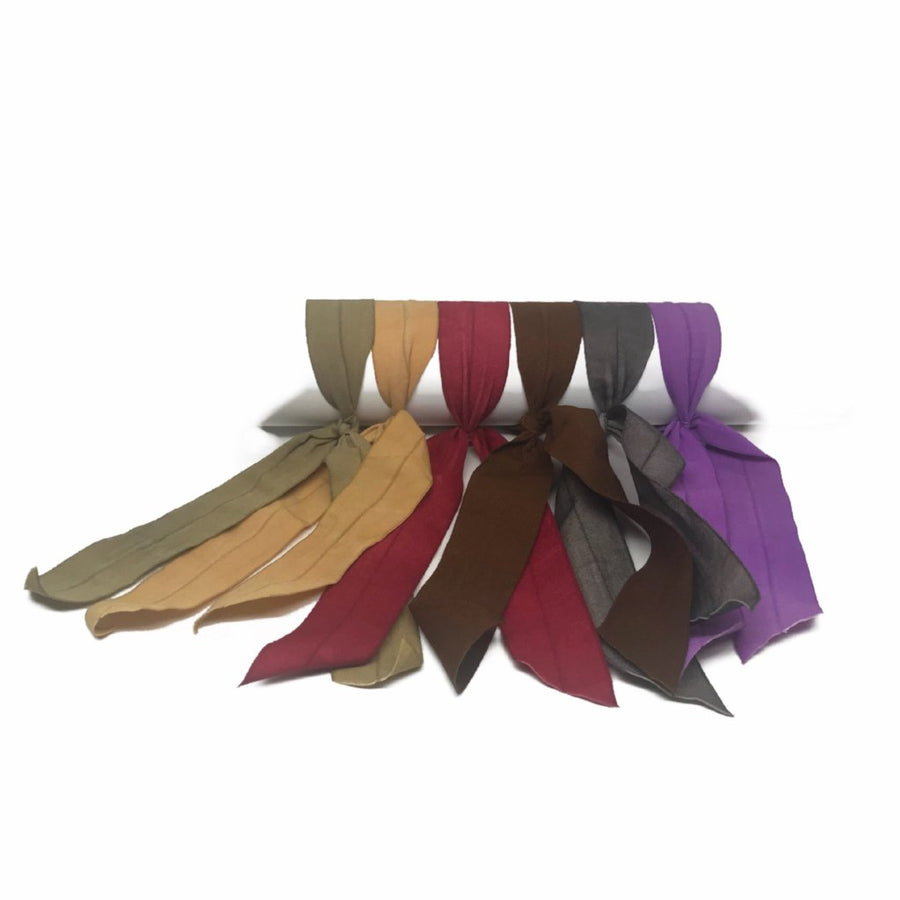 All color options of the Bandtz Matte Wide Tail Hair Elastic.