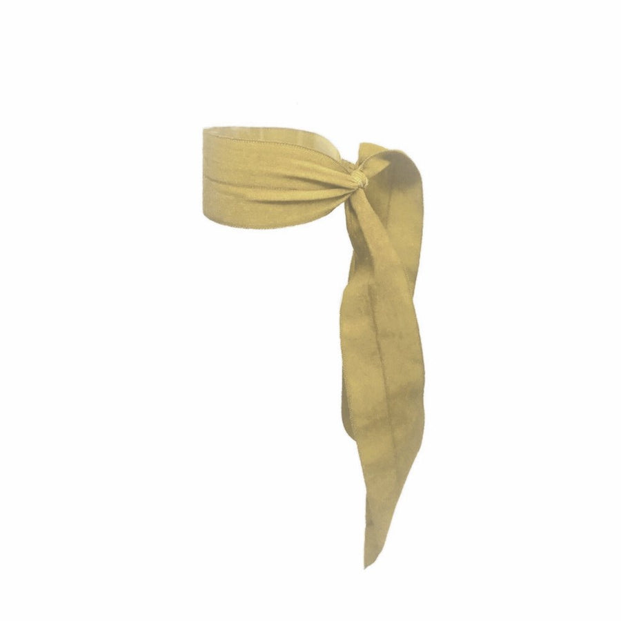 Bandtz Matte Wide Tail in Yellow. Elastic Ribbon for the hair