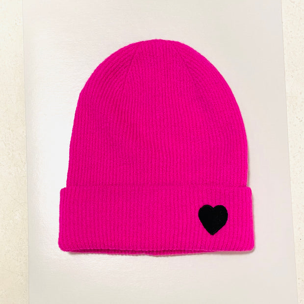 Hot Pink w/Black Star Beanie