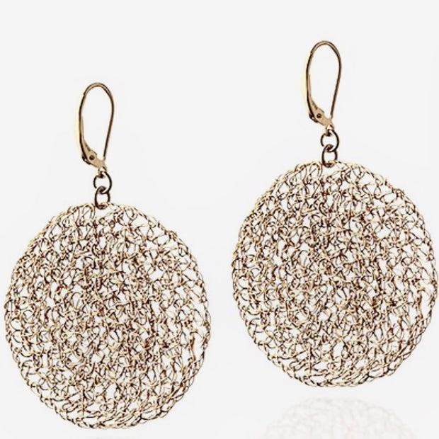 Gold Filled Mesh Earrings