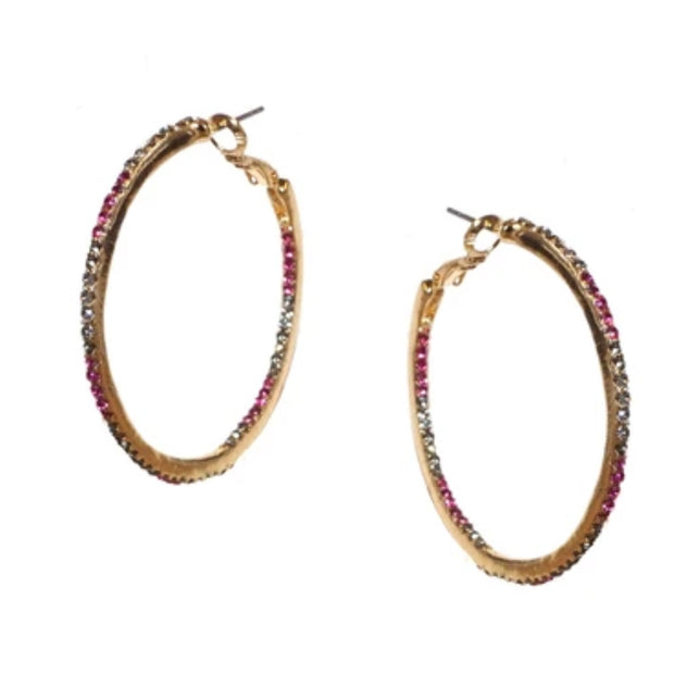 Multi CZ Hoop Earrings