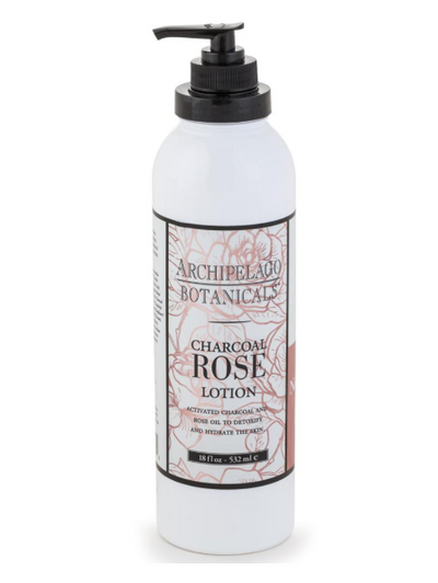 Archipelago Charcoal Rose 18oz Lotion