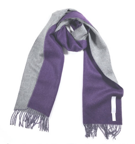 Demilune Grey Purple Scarf