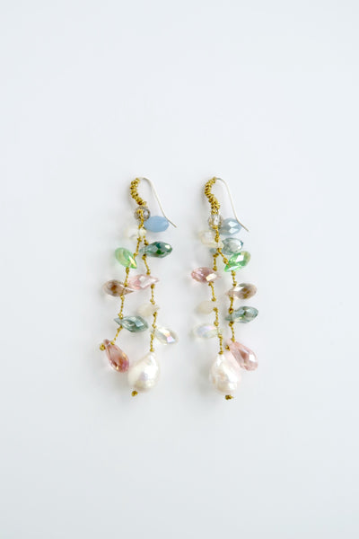 Multi Beaded Earrings with Pearl