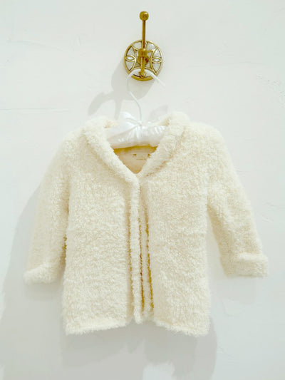 Infant Cardigan and Hat in White