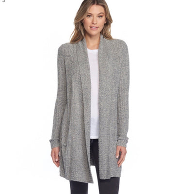Barefoot Dreams Monticeto Cardi / Heathered Graphite