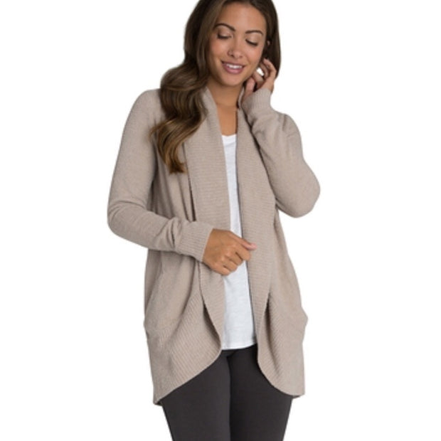 BarefootDreams Cozy Circle Cardi / Almond