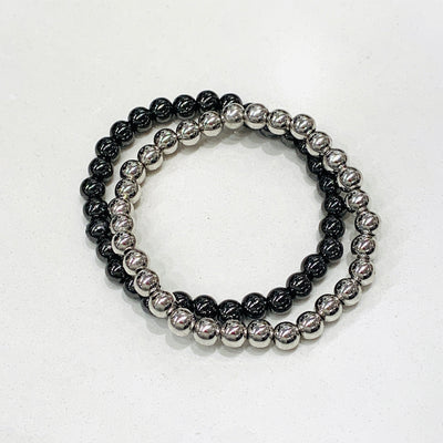 Metal Beaded Stretch Bracelets