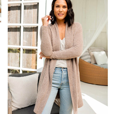 Barefoot Dreams Montecito Cardi / Driftwood Taupe