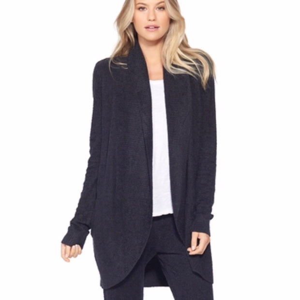 Barefoot Dreams Cozy Circle Cardi / Carbon