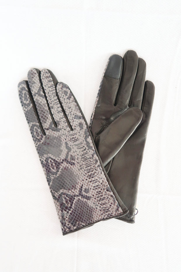 Faux Python Leather Gloves