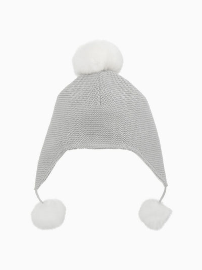 Sofia & Finn Children's Grey Aviator Pom Hat