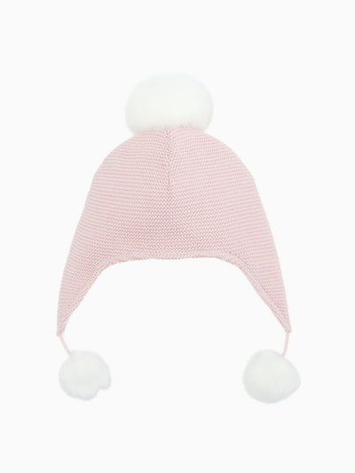 Sofia & Finn Children's Pink Aviator Pom Hat
