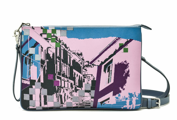Perception clutch bag