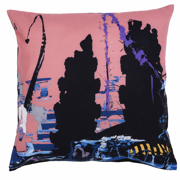 Falling water cushion cover