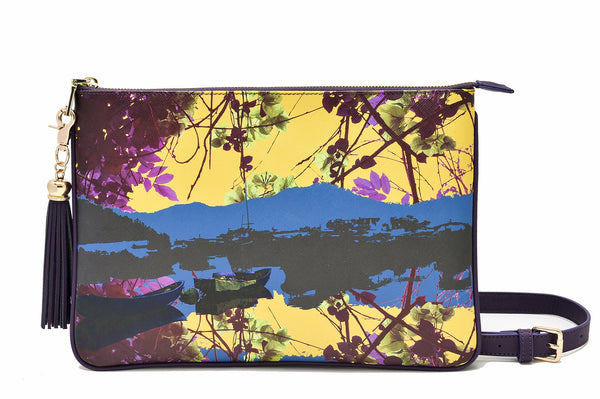 Reflection clutch bag