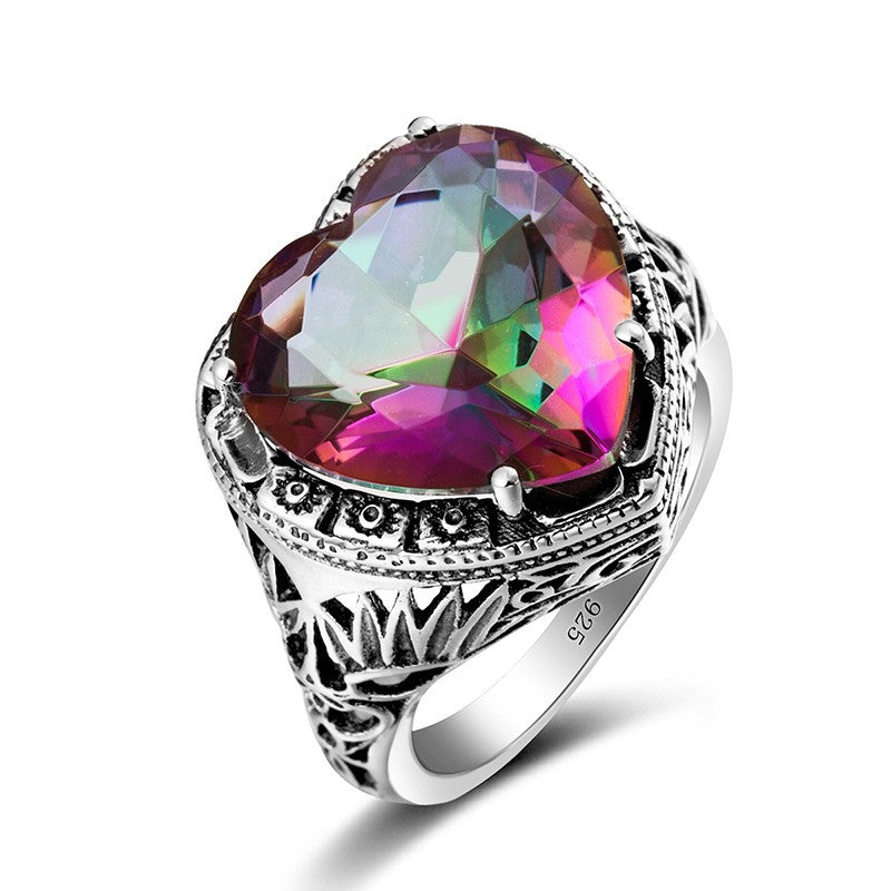 rainbow on mystic ring wedding jewelery diamond pinterest southrernauntie images topaz and engagement best rings