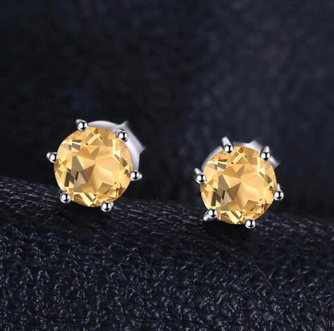 products earrings mavrik white diamond citrine gold jewelry
