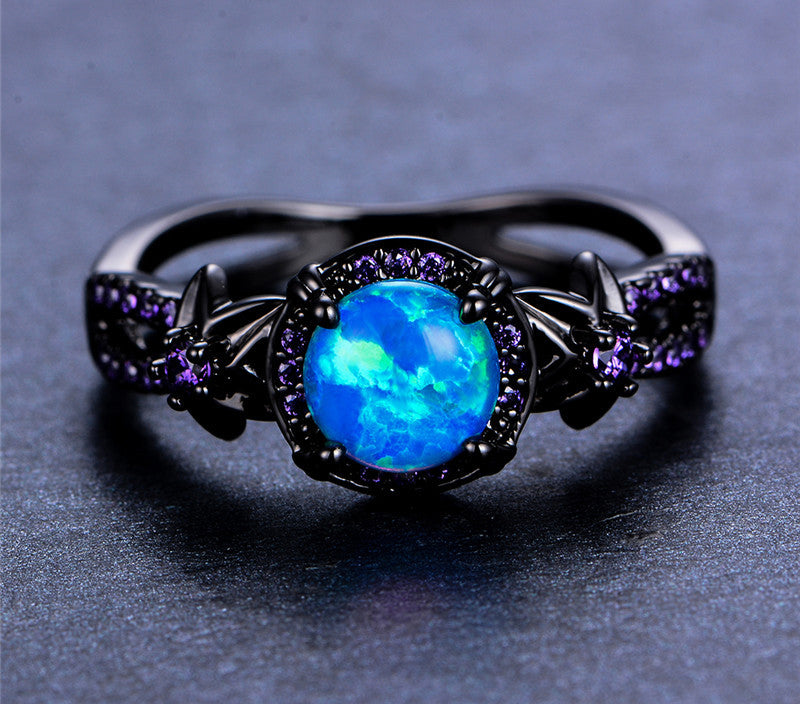 wedding gem rings birthstone october bands