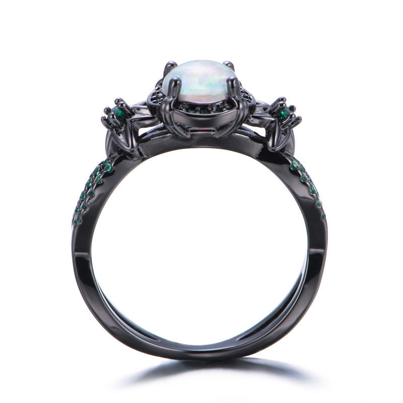 ring october rings birthstone claddagh diamond tourmaline silver copypint