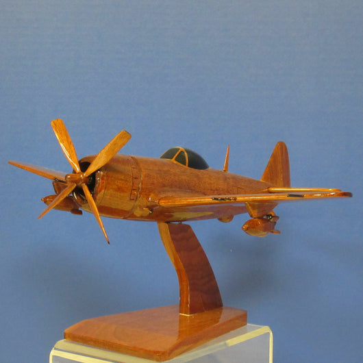 P-47D Thunderbolt Airplane Mahogany Wood Model