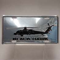 UH-60 Blackhawk Helicopter License Plate