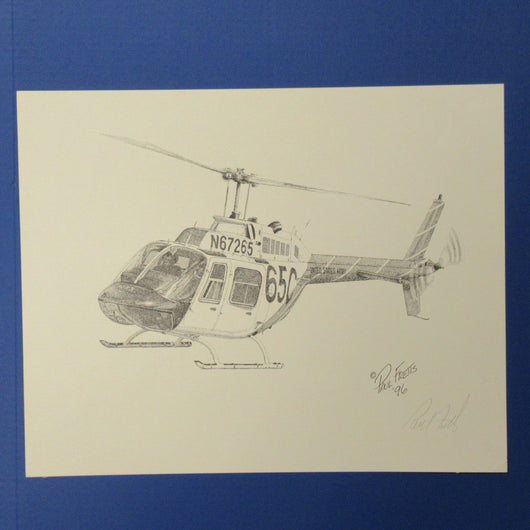 th 67 creek helicopter print by paul fretts aviation museum gift shop