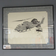 AH-1 Cobra Framed Print (Fretts)