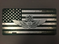 Master Crew Wing with Flag License Plate