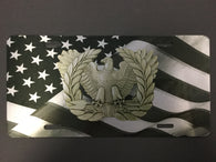 Warrant Officer Insignia on Flag License Plate-subdued