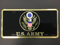 US Army with Army Seal - License Plate
