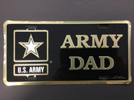 US Army with Star/Army Dad - License Plate