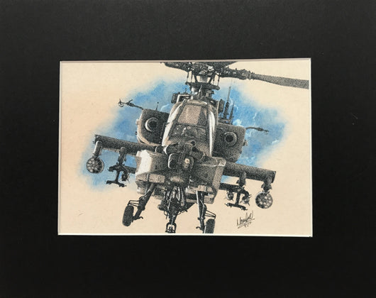 AH-64 Apache Helicopter Print