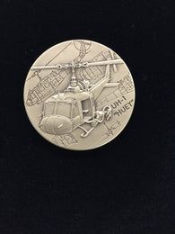 UH-1 Huey Helicopter Coin with Army Seal on reverse