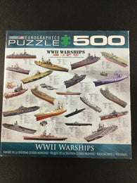 WWII War Ships Puzzle - 500 Piece