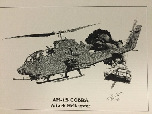 AH-1S Cobra Attack Helicopter Notecard