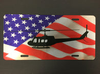 UH-1 Huey License Plate with Flag (Color)
