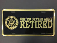 US Army Retired - License Plate