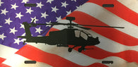 AH-64 Apache License Plate with Flag (color)