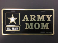 US Army with Star/Army Mom - License Plate