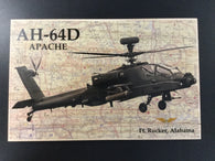 AH-64 Apache Helicopter Printed Wood Sign