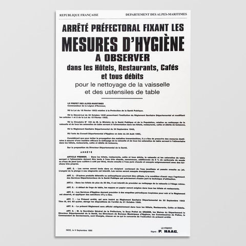 Affichage Obligatoire Code du Travail à l'Attention du Personnel