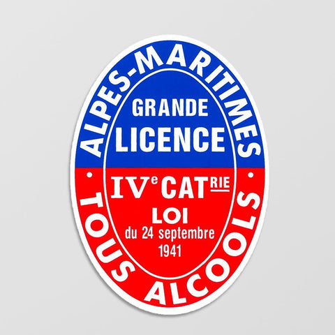 Panneau Licence 4 / Licence IV Alpes Maritimes (06)