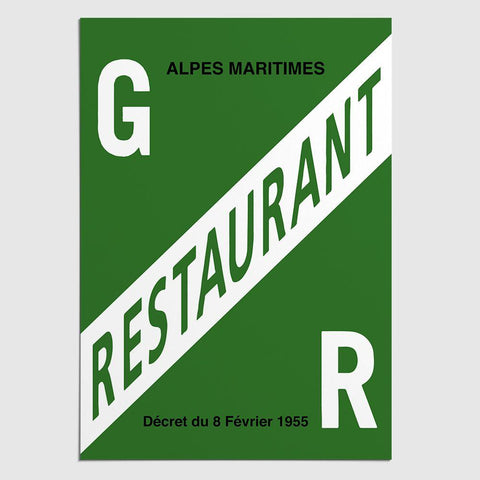 Panneau de Licence GR (Grande Restauration) / Alpes Maritimes (06) Licence Grande Restauration (Alpes-Maritimes) MCA Group