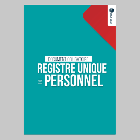 Cahier de Registre Unique du Personnel Registre du Personnel MCA Group