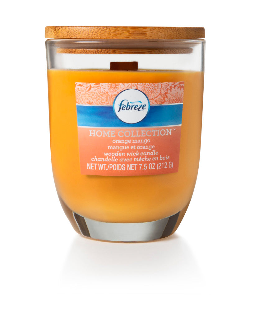 Febreze Home Collection Scented Jar Candle, Citrus Mango, 7.5 oz, Single - Febreze Home Collection