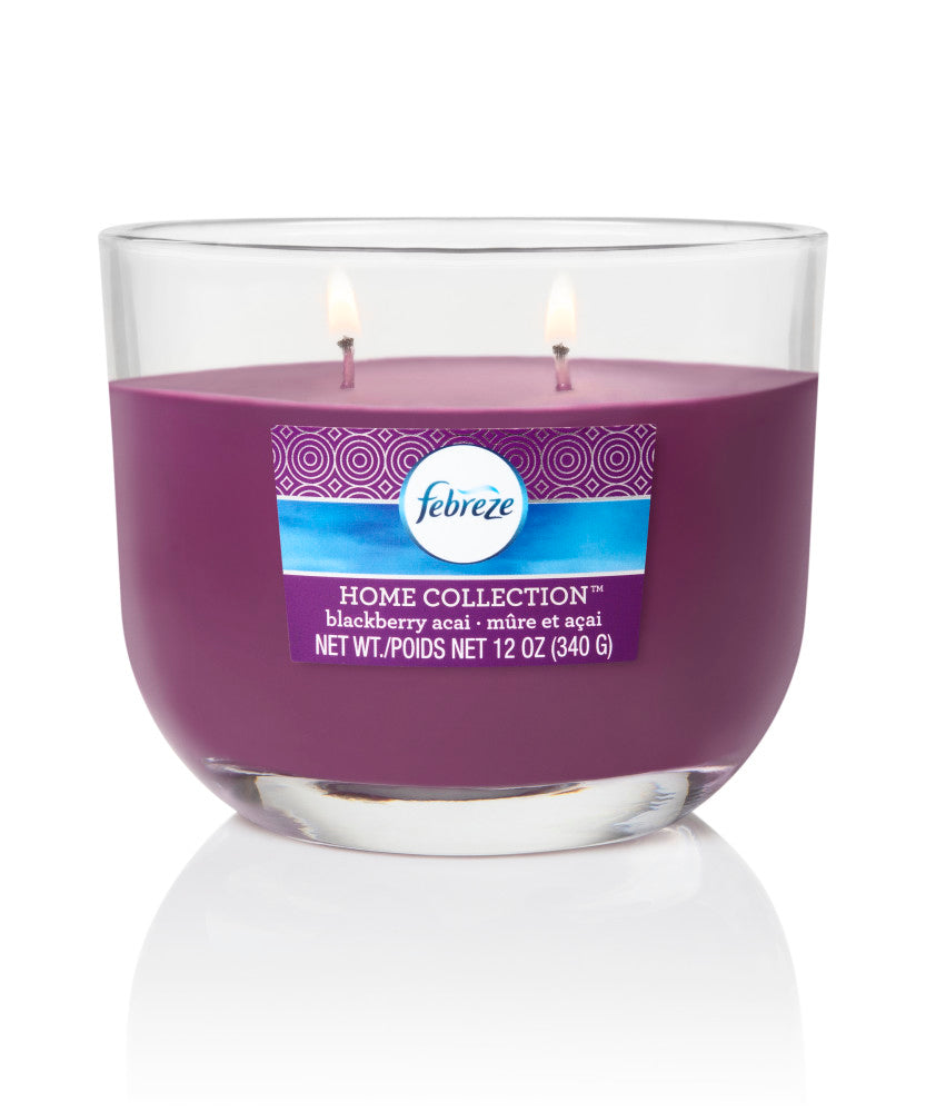 Febreze Home Collection Scented Jar Candle, Blackberry Acai, 12 oz, Single - Febreze Home Collection